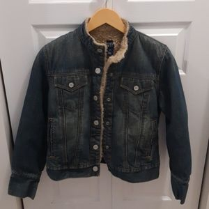 Gap denim sherpa jacket